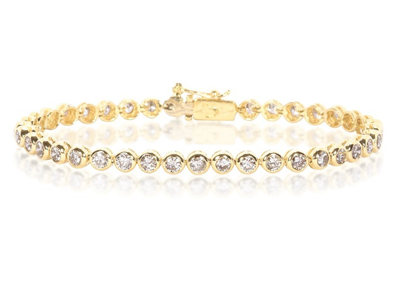 18ct Yellow Gold & 4.00ct Diamonds Bracelet