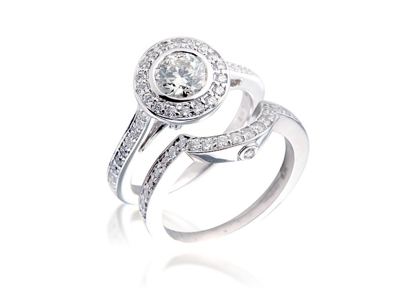 18ct White Gold 1.40ct Diamonds Bridal Set