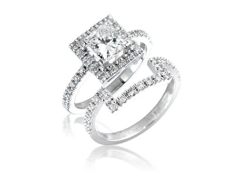 18ct White Gold 1.75ct Diamonds Bridal Set
