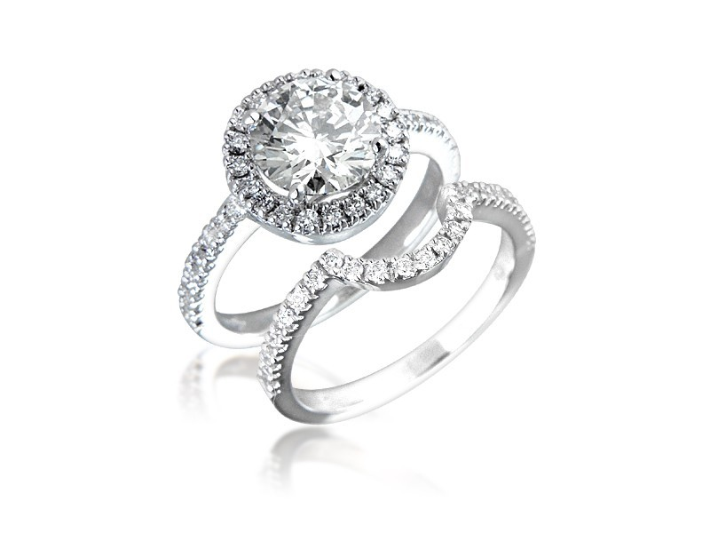 18ct White Gold 2.30ct Diamonds Bridal Set