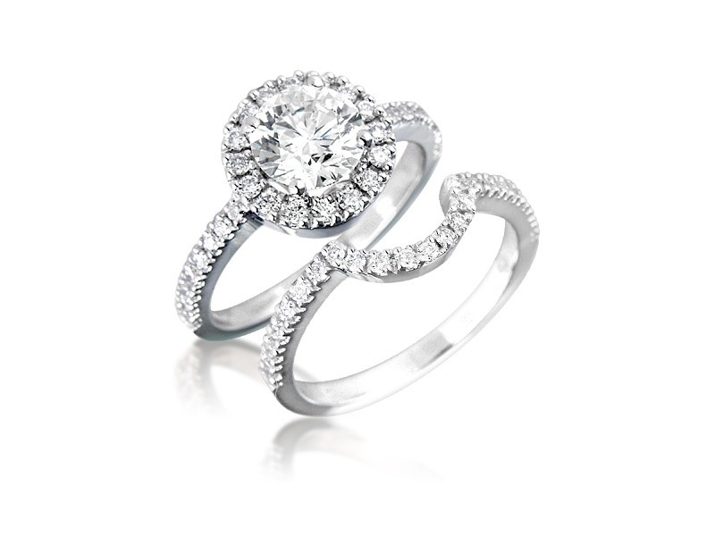 18ct White Gold 1.80ct Diamonds Bridal Set
