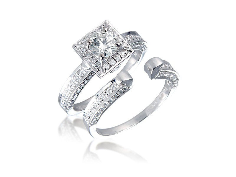 18ct White Gold 1.25ct Diamonds Bridal Set