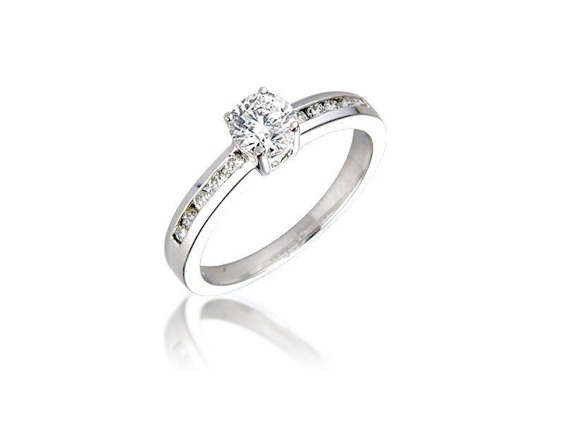18ct White Gold 0.45ct Diamond Solitaire Engagement Ring