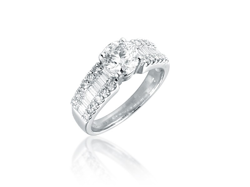 18ct White Gold 1.60ct Diamond Solitaire Engagement Ring