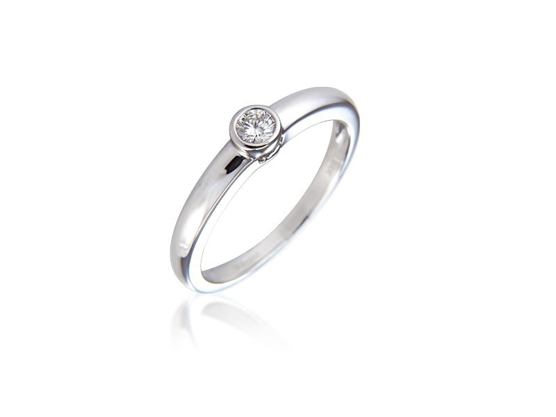 18ct White Gold 0.10ct Diamond Solitaire Engagement Ring