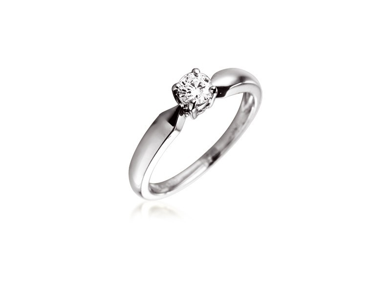 18ct White Gold 0.20ct Diamond Solitaire Engagement Ring
