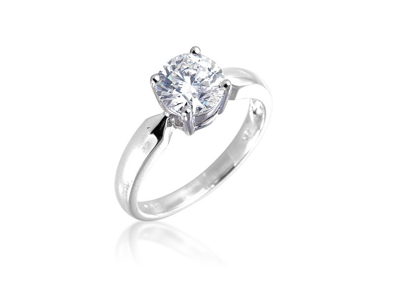 18ct White Gold 1.50ct Diamond Solitaire Engagement Ring