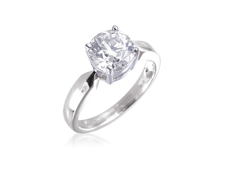 18ct White Gold 2.00ct Diamond Solitaire Engagement Ring