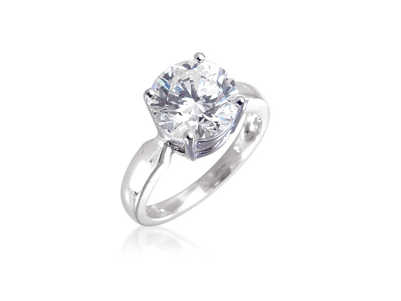 18ct White Gold 3.00ct Diamond Solitaire Engagement Ring