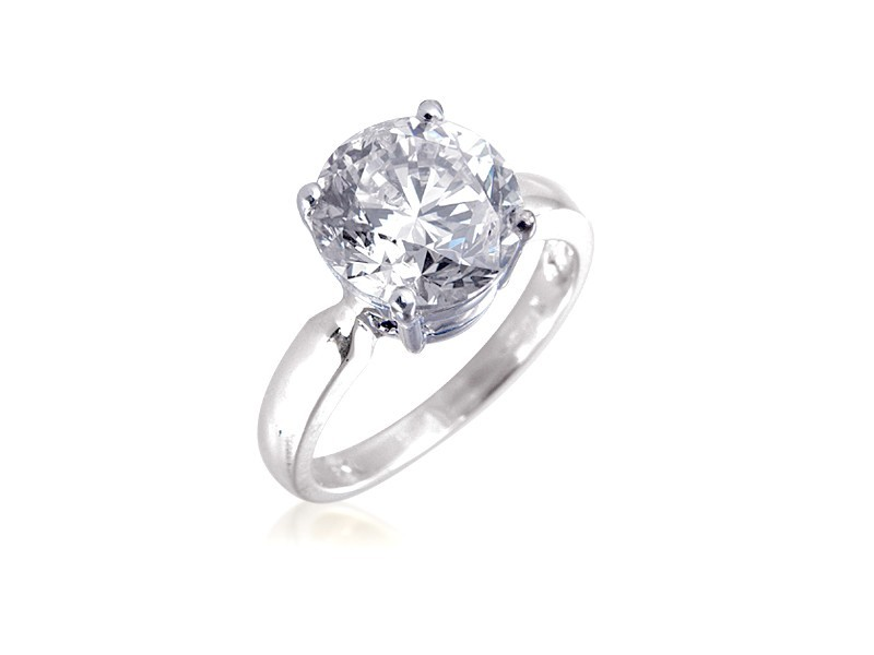 18ct White Gold 4.00ct Diamond Solitaire Engagement Ring