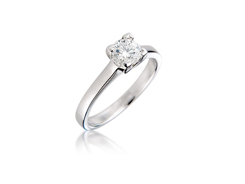 18ct White Gold 0.55ct Diamond Solitaire Engagement Ring