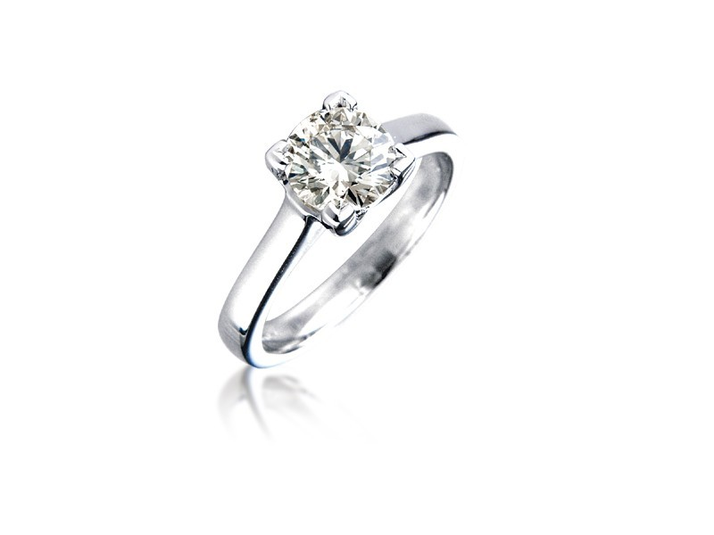 18ct White Gold 1.20ct Diamond Solitaire Engagement Ring