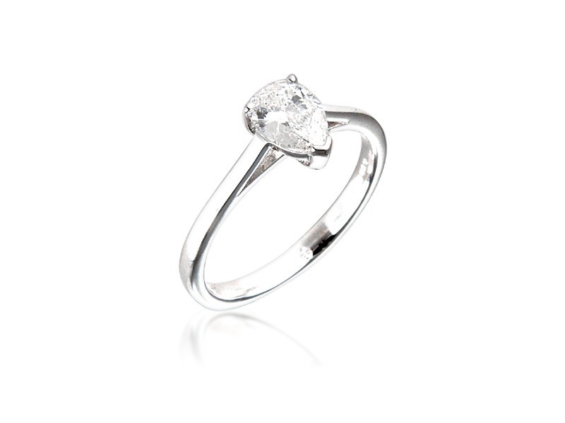 18ct White Gold 0.70ct Diamond Solitaire Engagement Ring