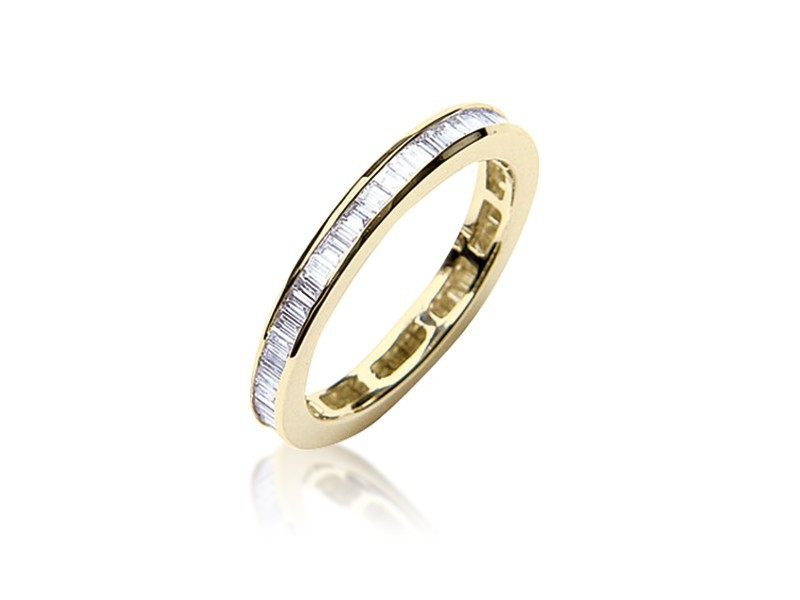 18ct Yellow Gold Eternity Ring with 1.00ct Diamonds.