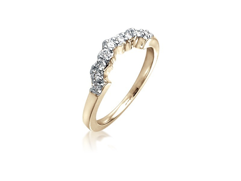 18ct Yellow Gold Eternity Ring with 0.25ct Diamonds.