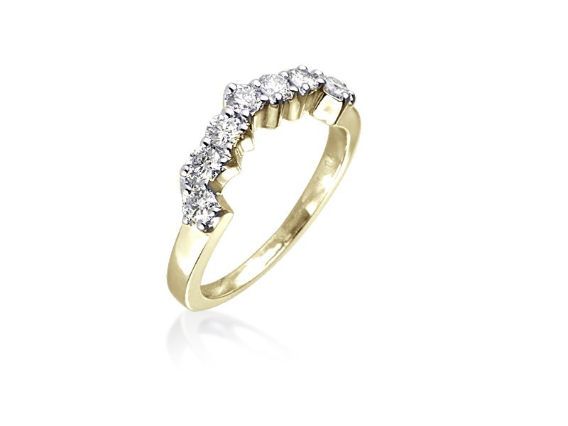 18ct Yellow Gold Eternity Ring with 0.50ct Diamonds.