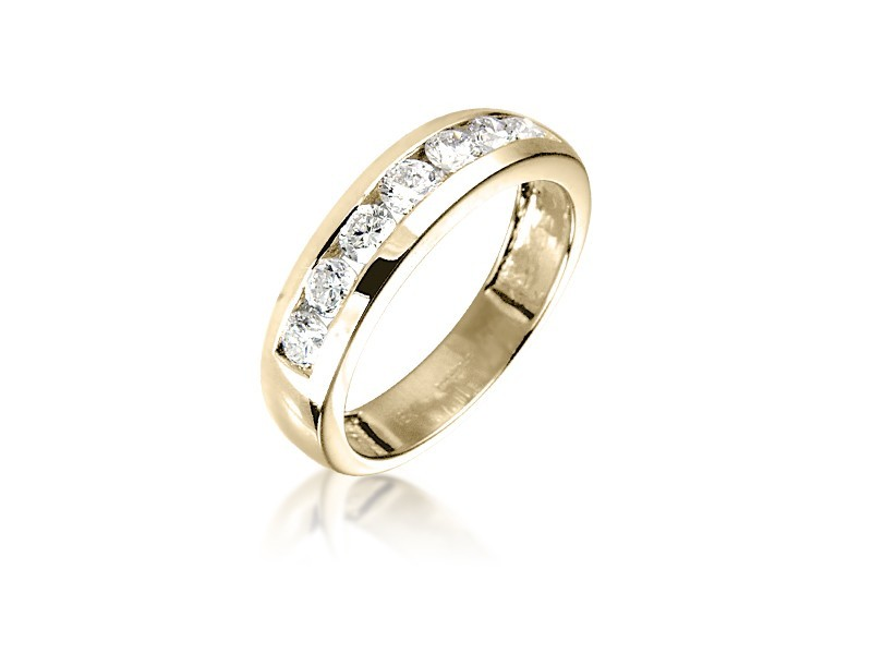 18ct Yellow Gold Eternity Ring with 0.75ct Diamonds.