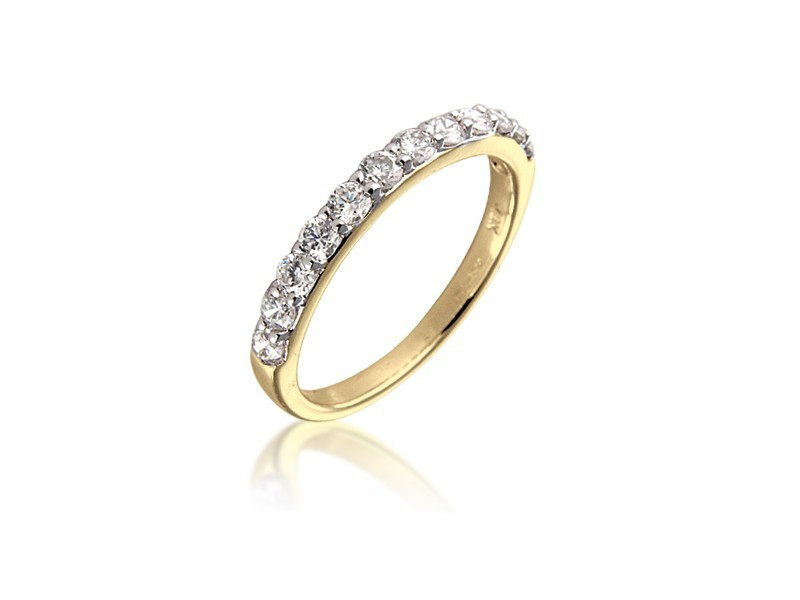 18ct Yellow Gold Eternity Ring with 0.65ct Diamonds.