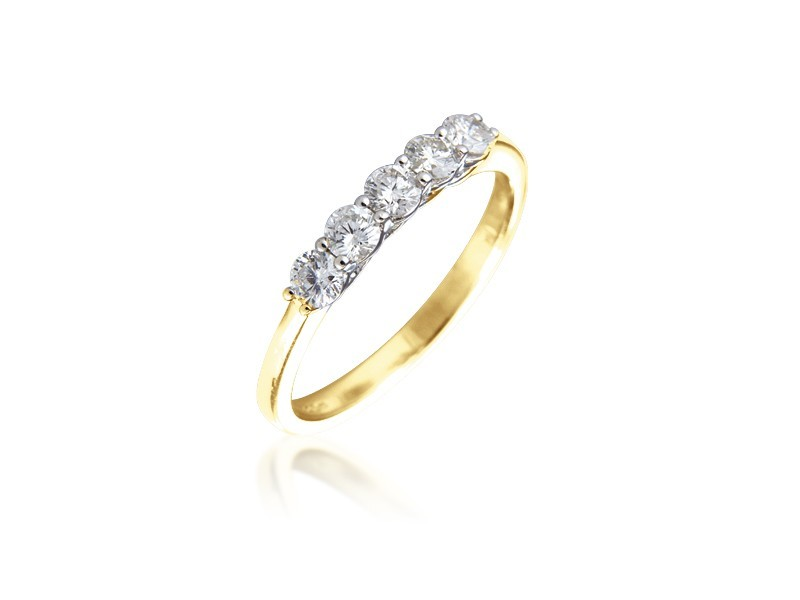 18ct Yellow Gold Eternity Ring with 0.50ct Diamonds