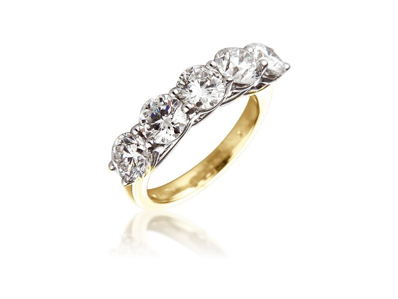 18ct Yellow & White Gold Eternity Ring with 3.00ct Diamonds in white gold mount.