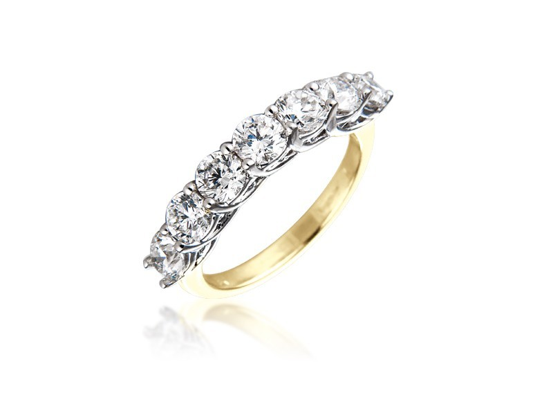 18ct Yellow & White Gold Eternity Ring with 2.00ct Diamonds in white gold mount.