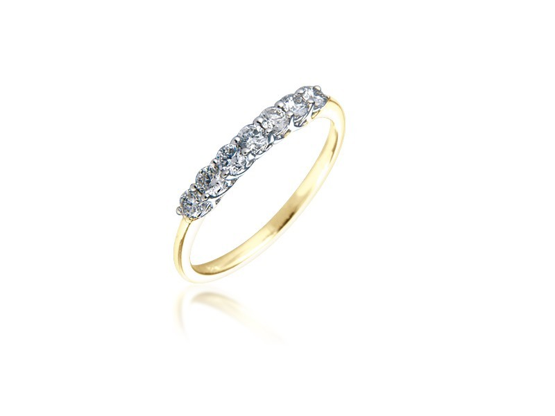 18ct Yellow & White Gold Eternity Ring with 0.33ct Diamonds in white gold mount.