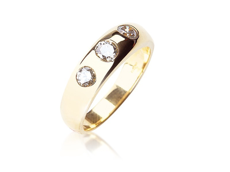 18ct Yellow Gold & 1.00ct Diamonds Wedding Ring