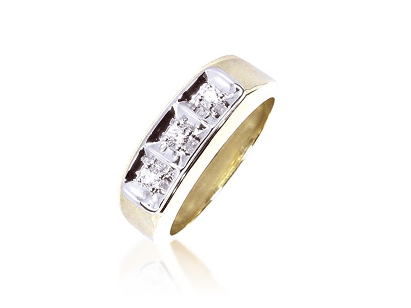 18ct Yellow Gold & 0.25ct Diamonds Wedding Ring