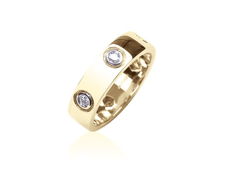 18ct Yellow Gold & 0.35ct Diamonds Wedding Ring