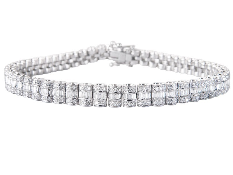 18ct White Gold & 2.85ct Diamonds Bracelet