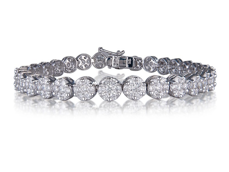 18ct White Gold & 7.00ct Diamonds Bracelet