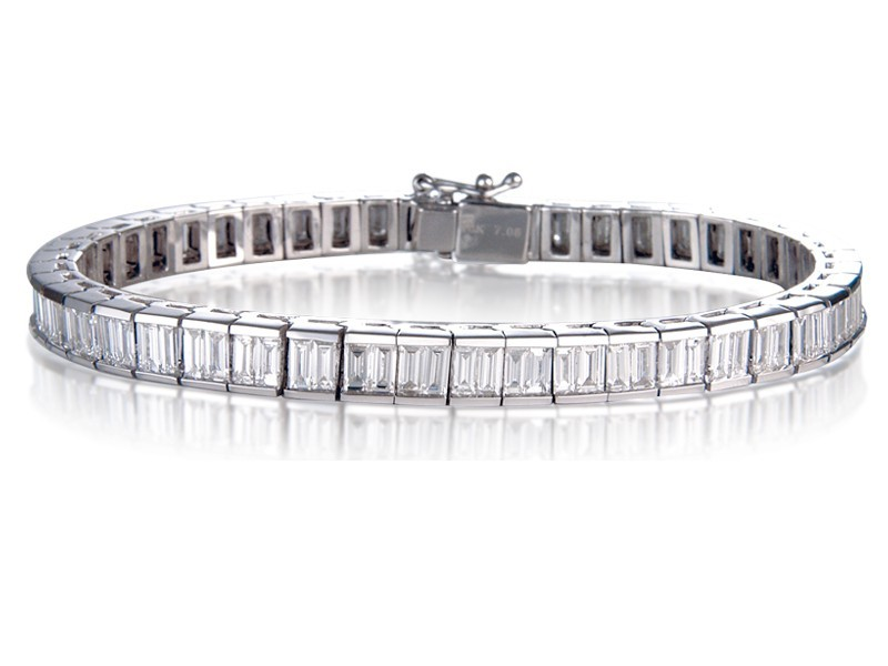 18ct White Gold & 6.00ct Diamonds Bracelet