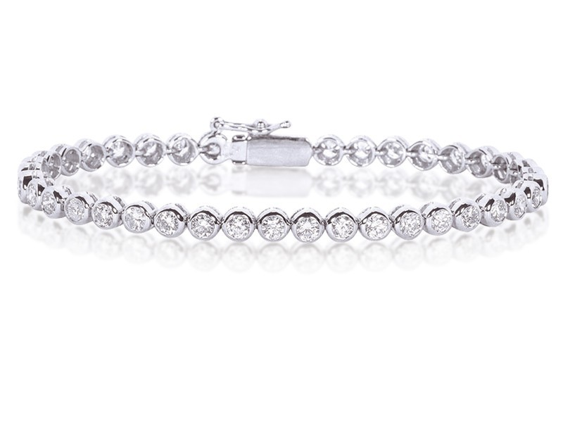 18ct White Gold & 1.00ct Diamonds Bracelet