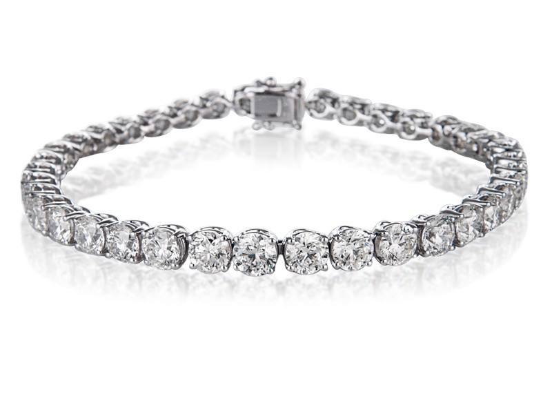 18ct White Gold & 10.00ct Diamonds Bracelet