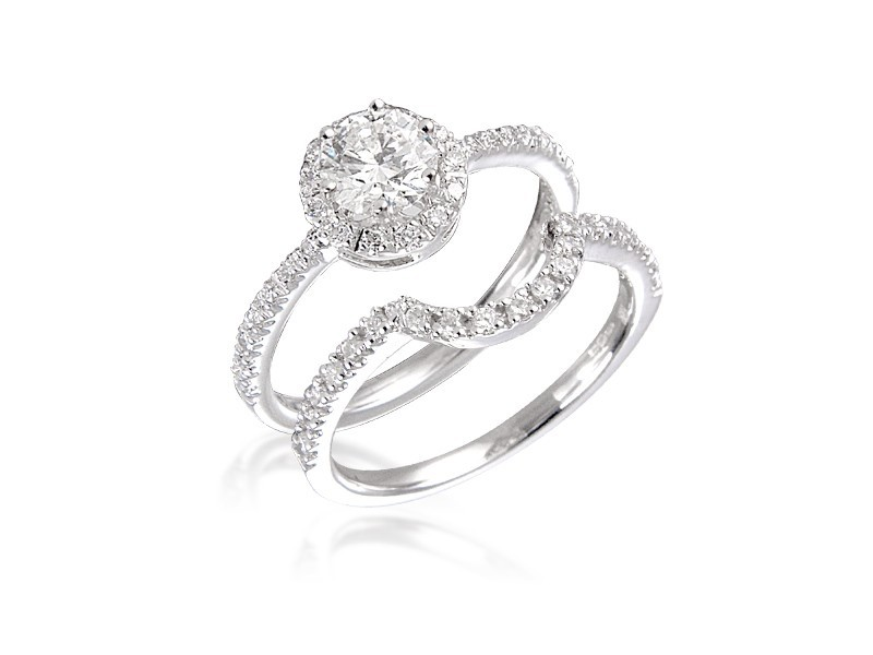 18ct White Gold 1.15ct Diamonds Bridal Set