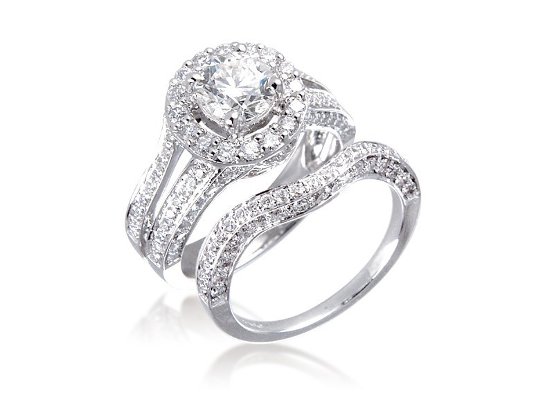 18ct White Gold 2.00ct Diamonds Bridal Set