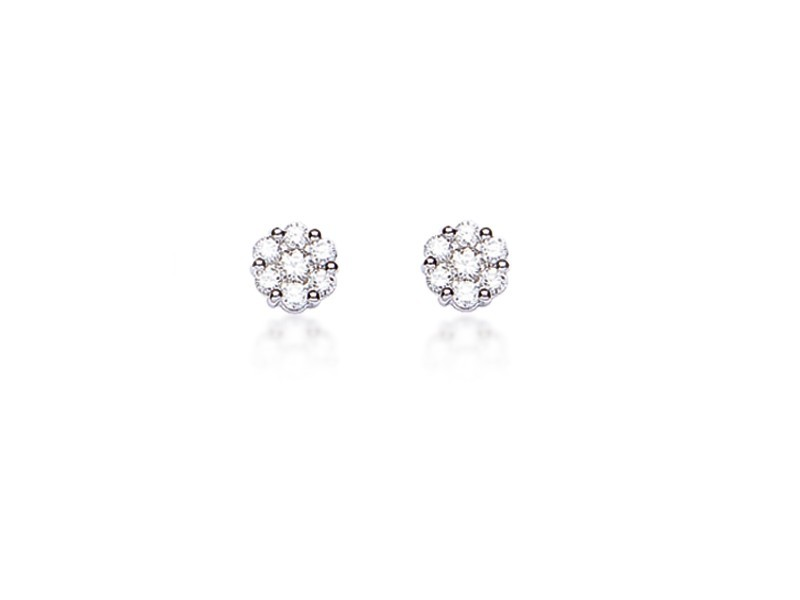 18ct White Gold & 0.30ct Diamonds Stud Earrings