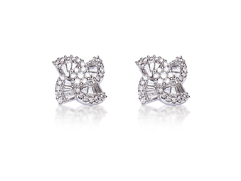 18ct White Gold & 0.70ct Diamonds Stud Earrings