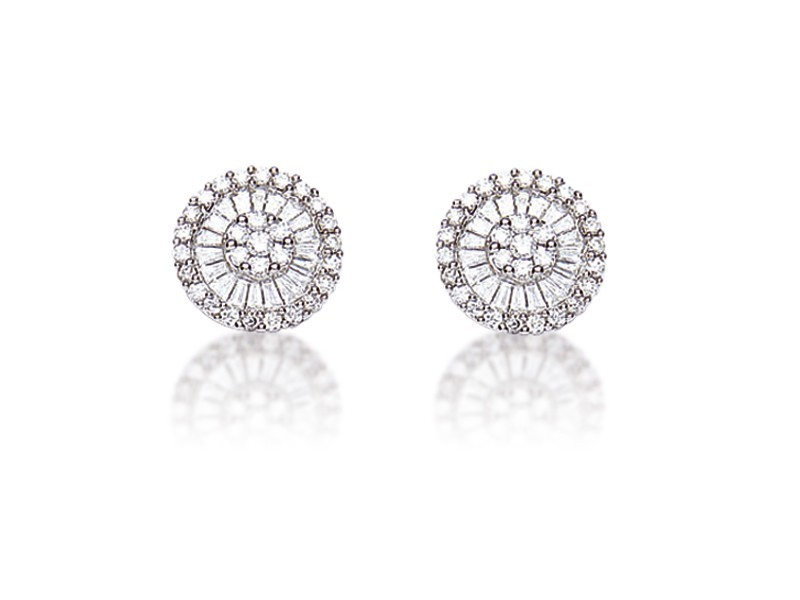 18ct White Gold & 0.80ct Diamonds Stud Earrings