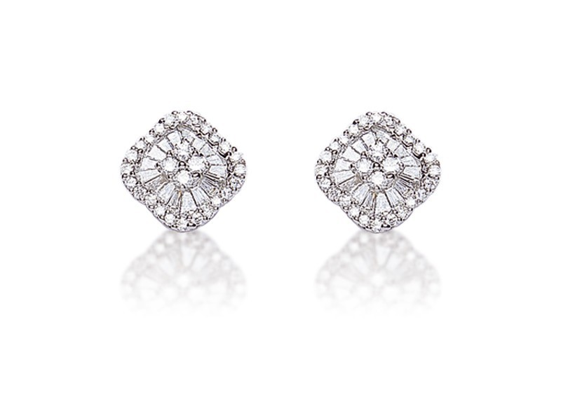 18ct White Gold & 0.75ct Diamonds Stud Earrings