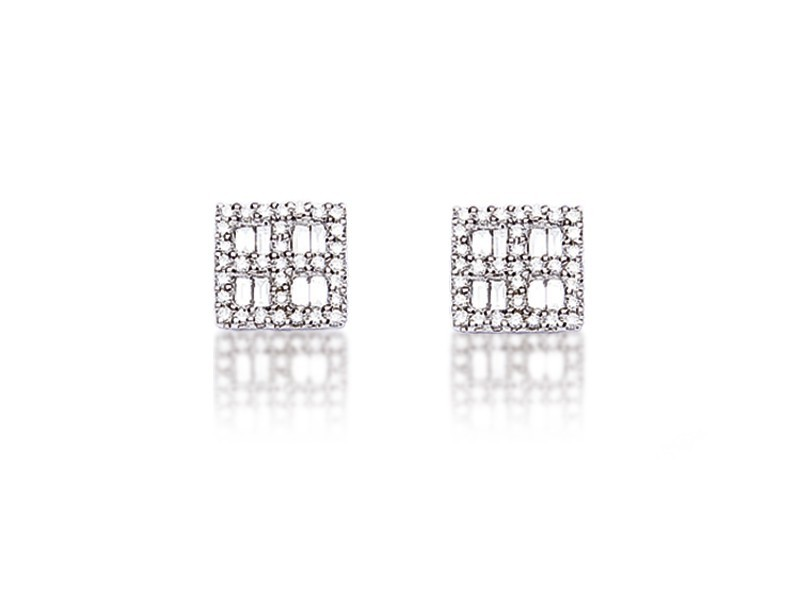 18ct White Gold & 0.60ct Diamonds Stud Earrings