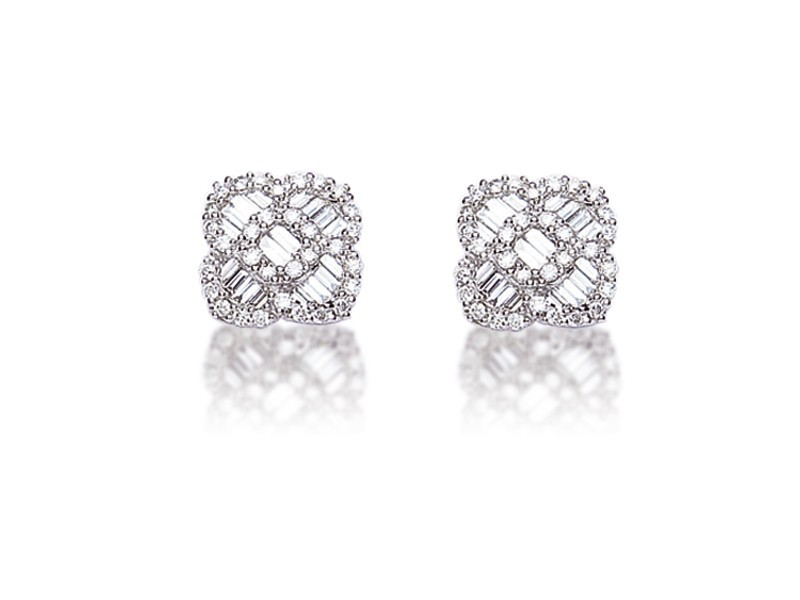 18ct White Gold & 0.65ct Diamonds Stud Earrings