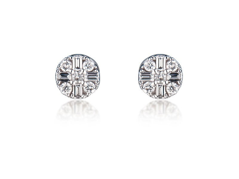 18ct White Gold & 0.50ct Diamonds Stud Earrings