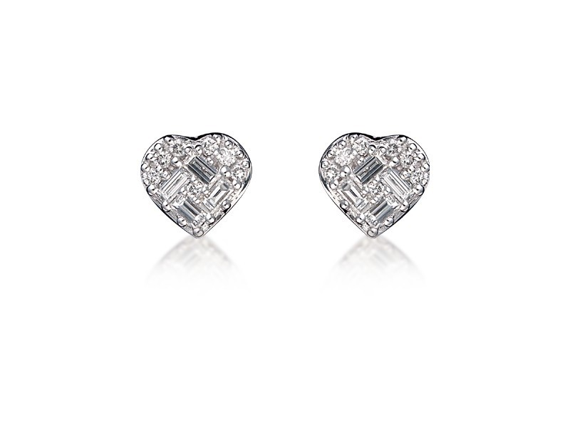 18ct White Gold & 0.40ct Diamonds Stud Earrings