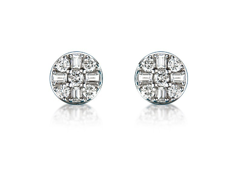 18ct White Gold &  0.90ct Diamonds Stud Earrings