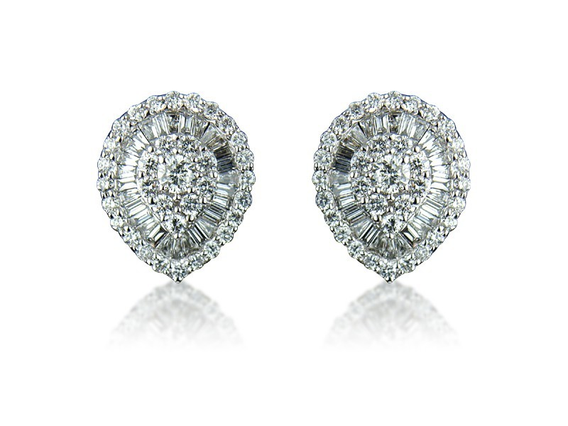 18ct White Gold & 1.25ct Diamonds Stud Earrings