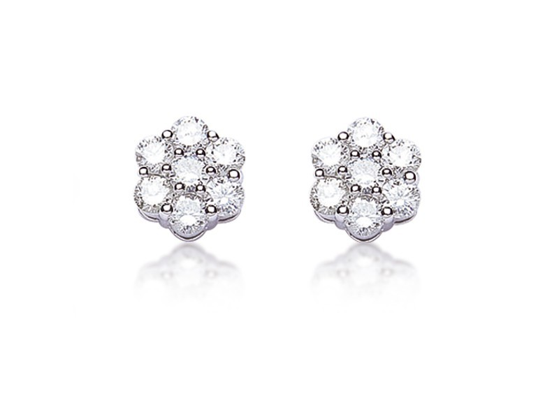 18ct White Gold Stud Earrings with 2.00ct Diamonds