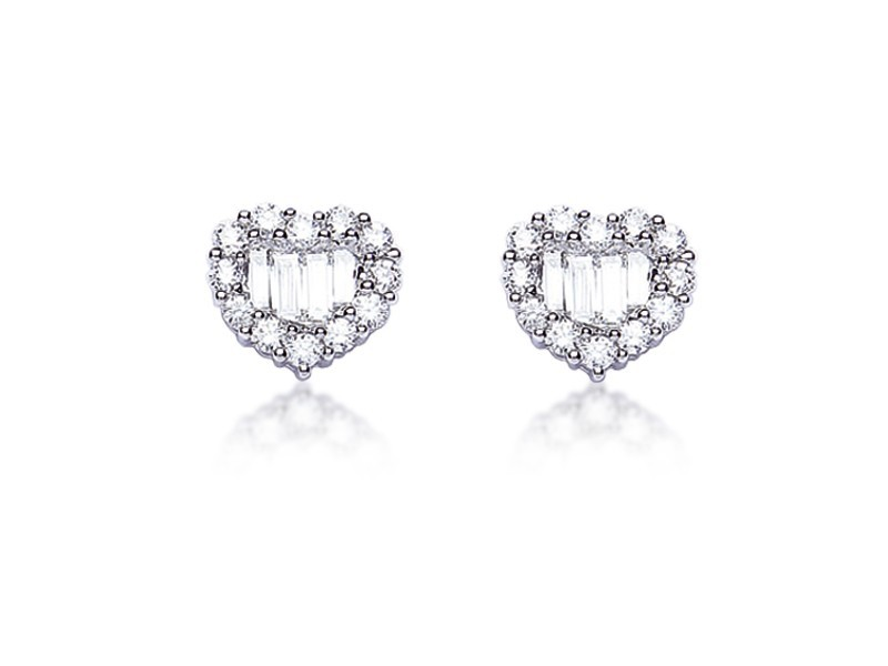 18ct White Gold Stud Earrings with 1.00ct Diamonds.