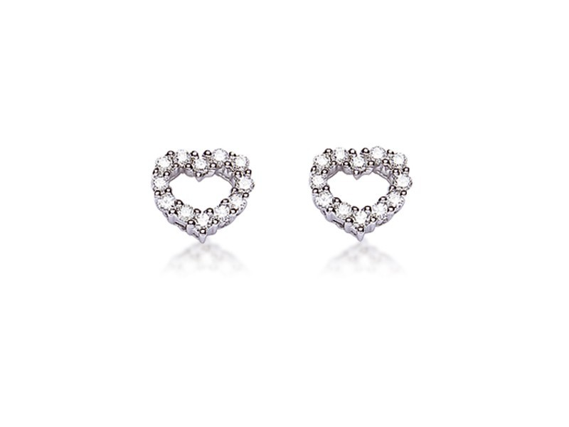 18ct White Gold Stud Earrings with 0.33ct Diamonds.