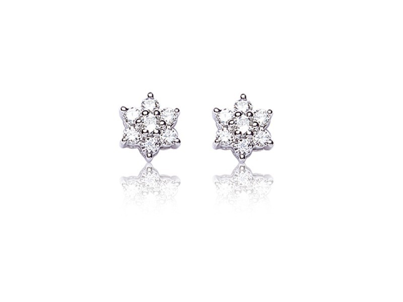 18ct White Gold Stud Earrings with 0.50ct Diamonds.